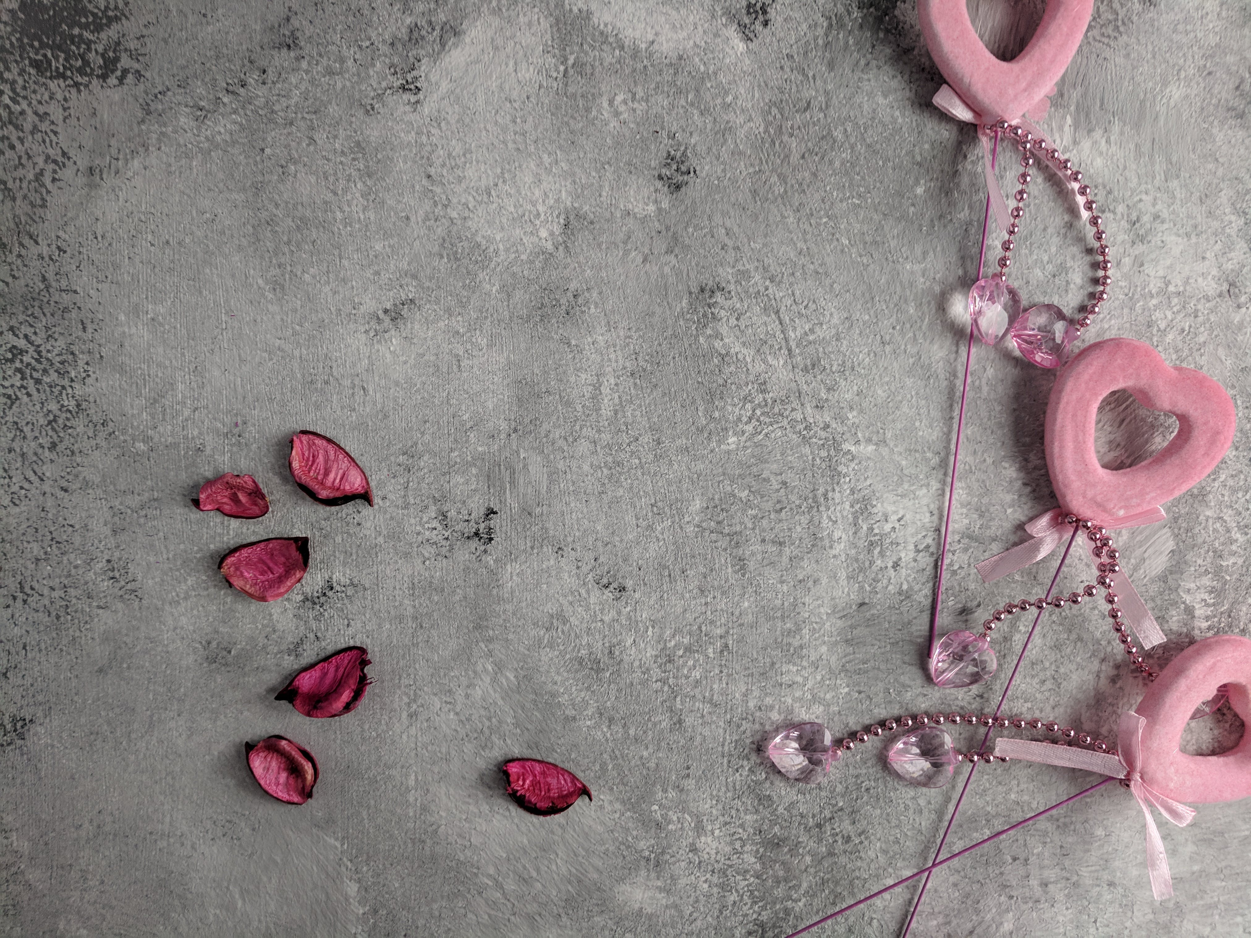 Free stock photo of art background, background, dried petals, heart