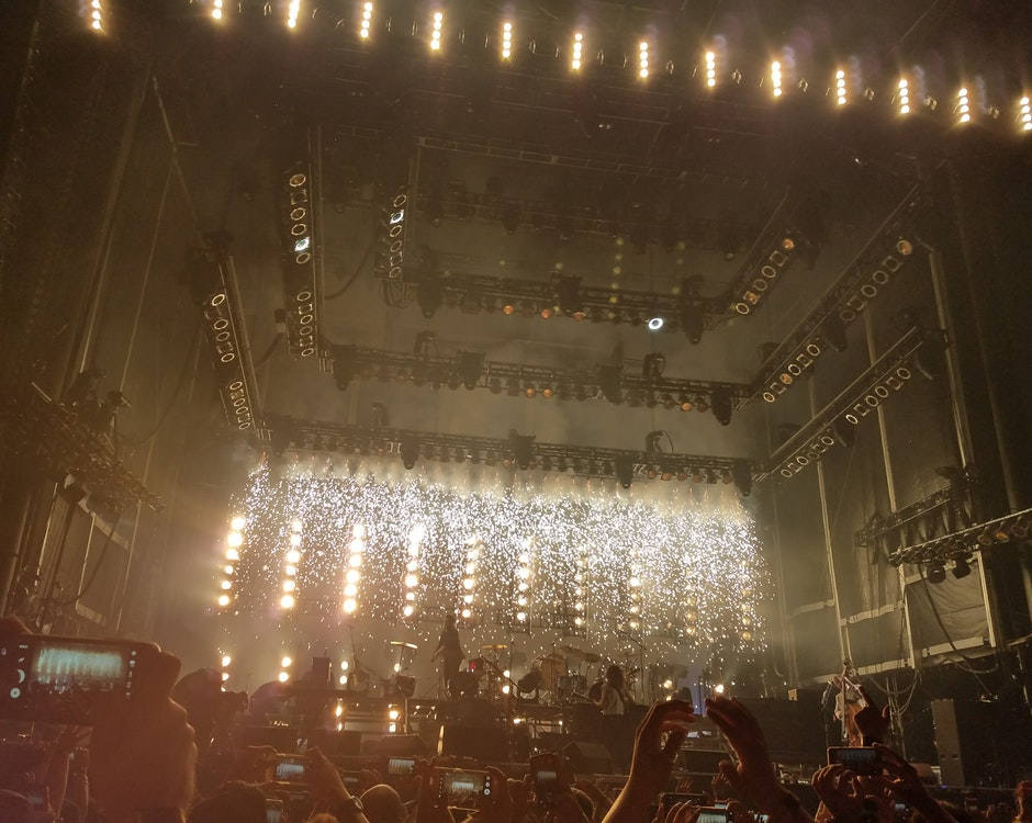 People Inside Building With Lights Watching Concert