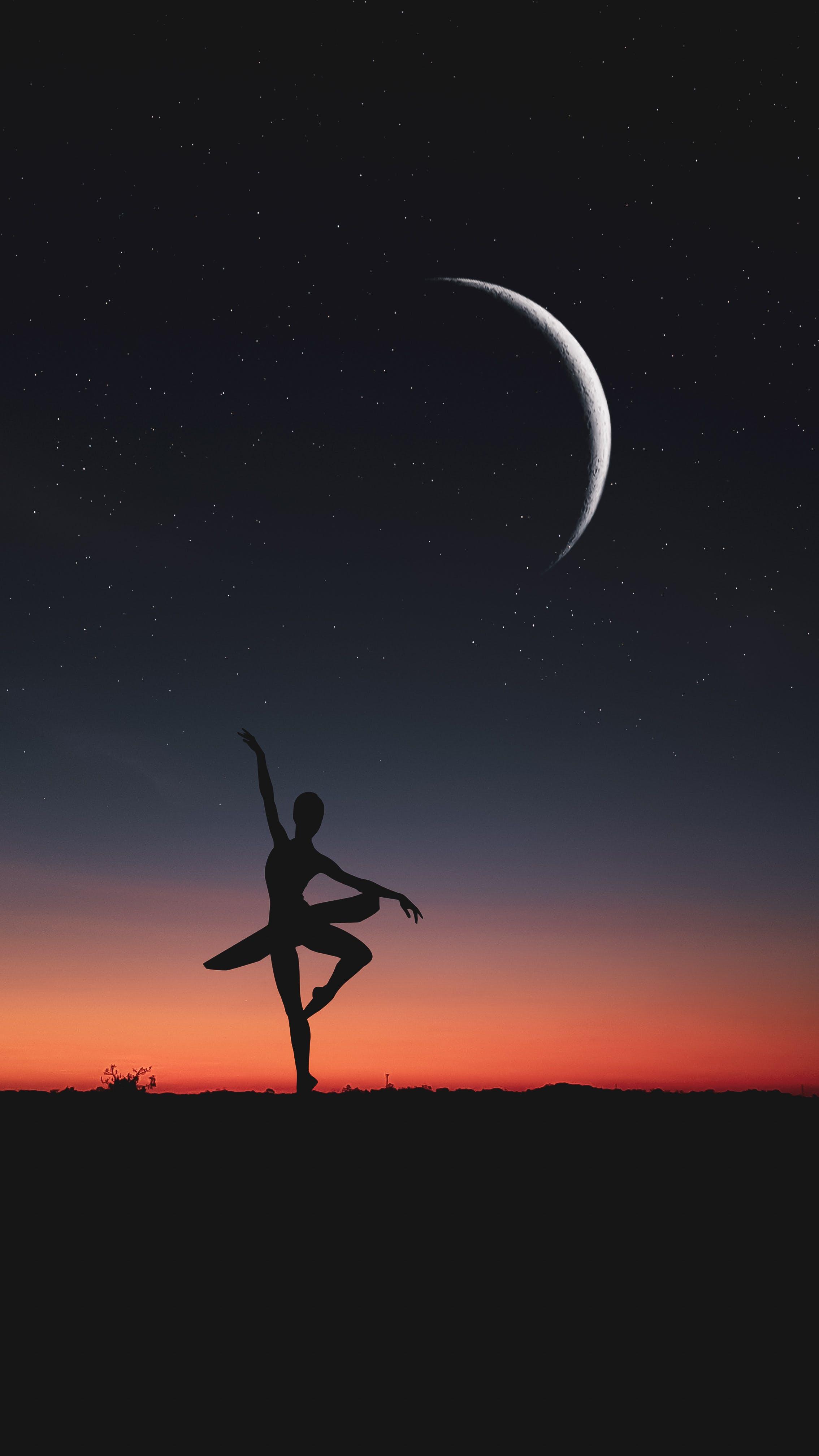 Immagine gratuita di domenica, luce del sole, luna, luna crescente