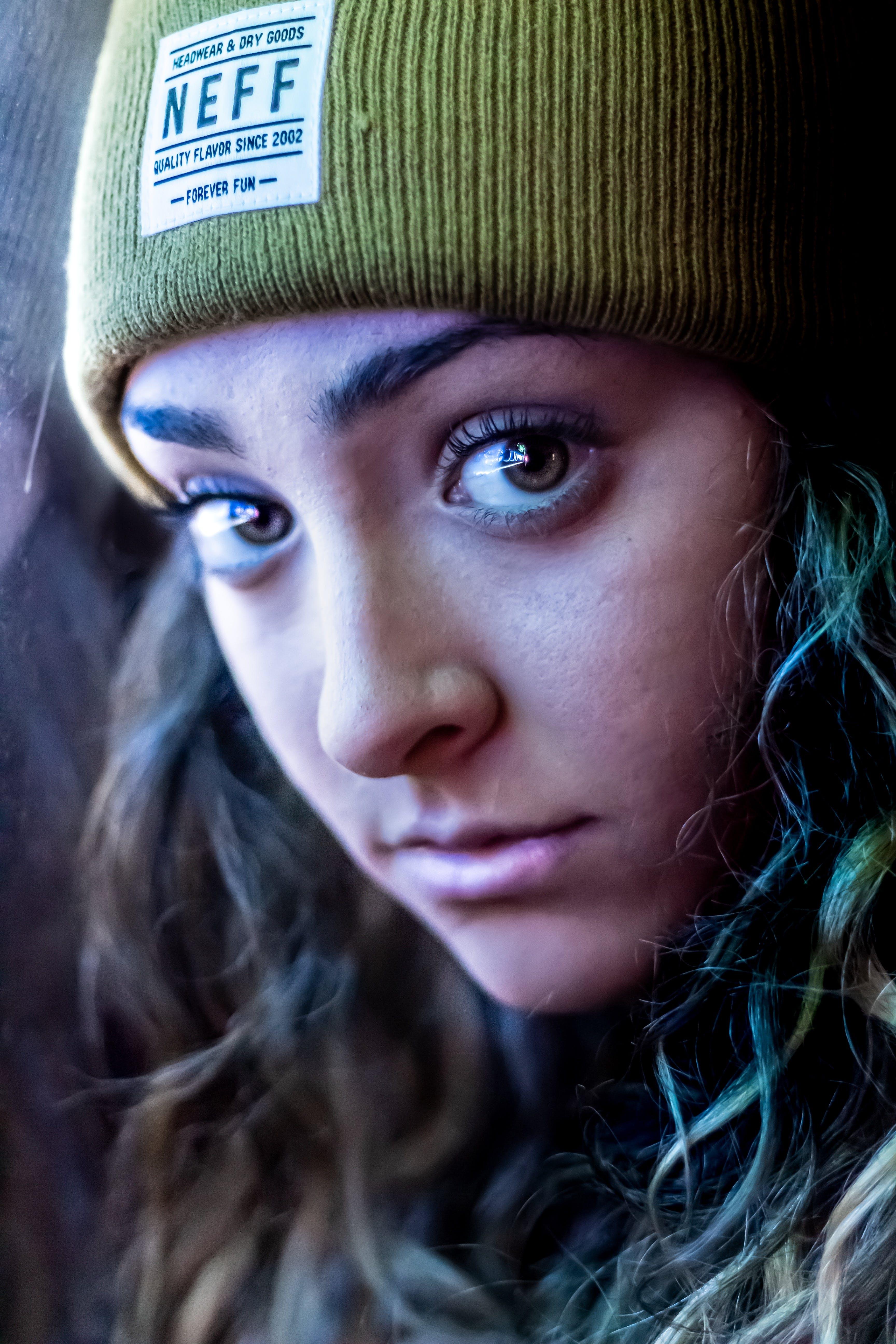 Free stock photo of beanie, beautiful eyes, beauty, blue