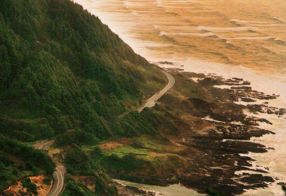 estrada de praia oceano costa