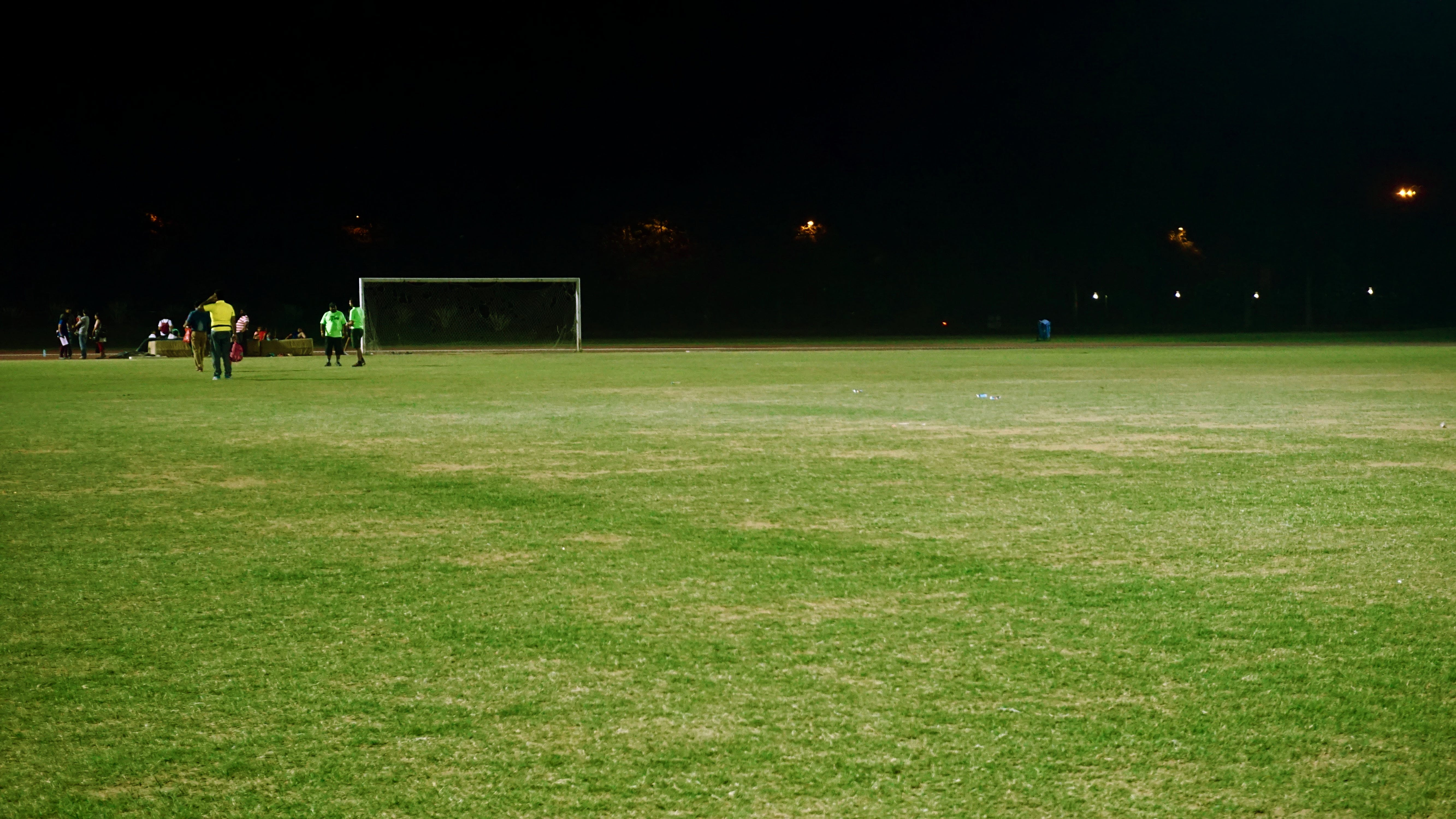 grass field. Free Stock Photo Of People, Lights, Night, Field Grass I