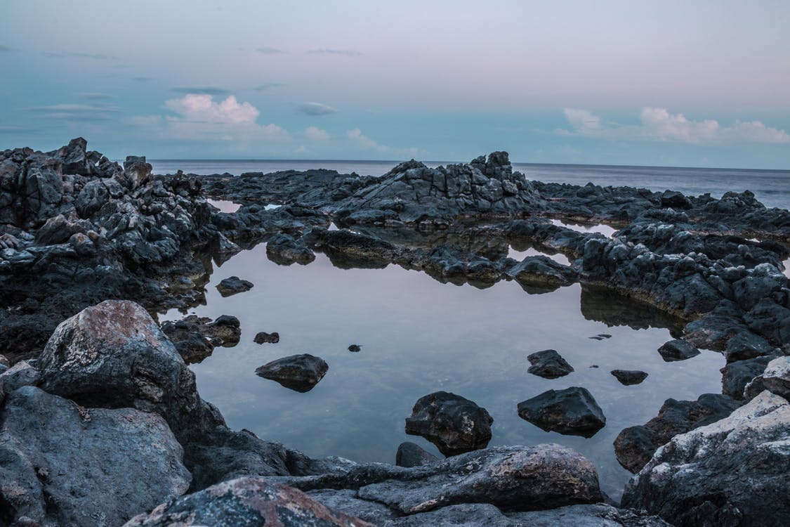 берег, живописный, камни
