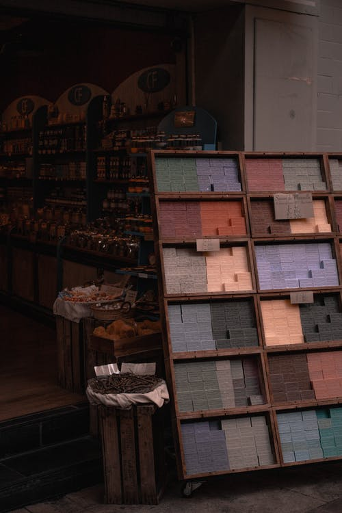 tiles on display