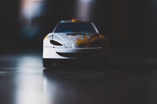 Macro Photography of Toy Car
