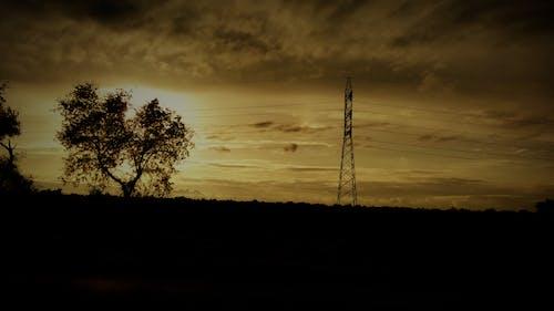Imagine de stoc gratuită din nori întunecați, seara turnului electric