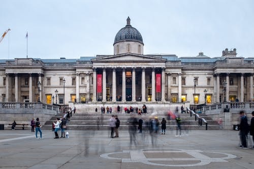 Free stock photo of london, long exposure, museum, people