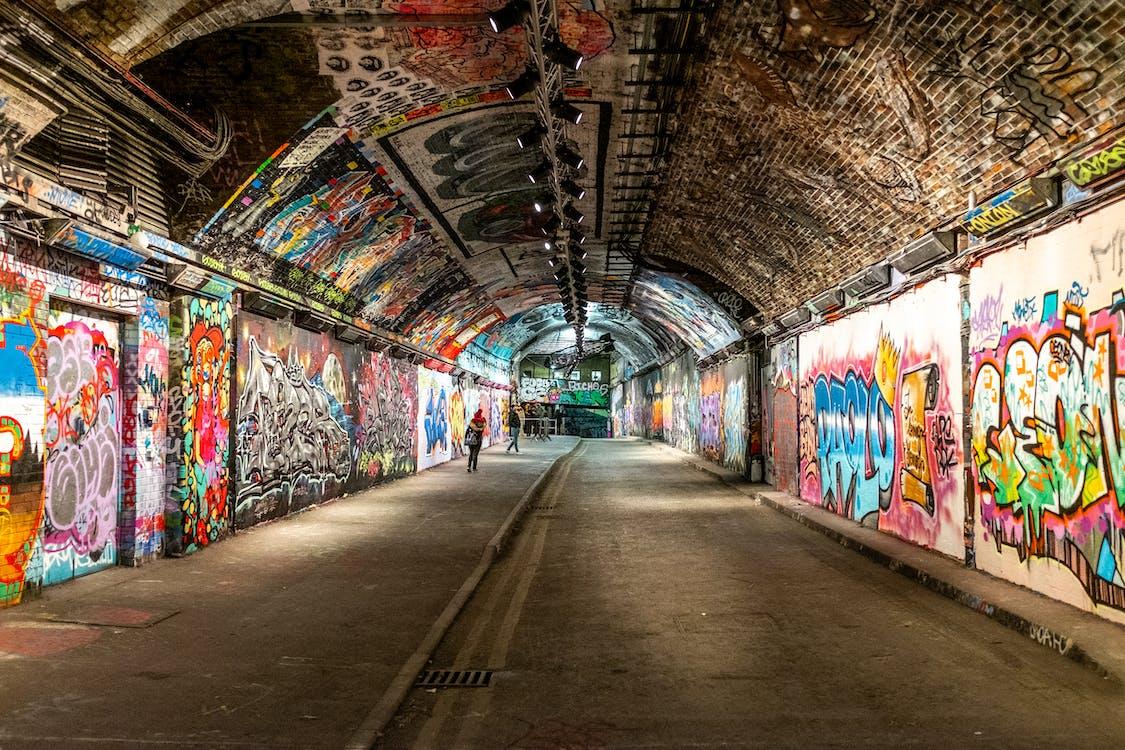 graffiti, london, menschen