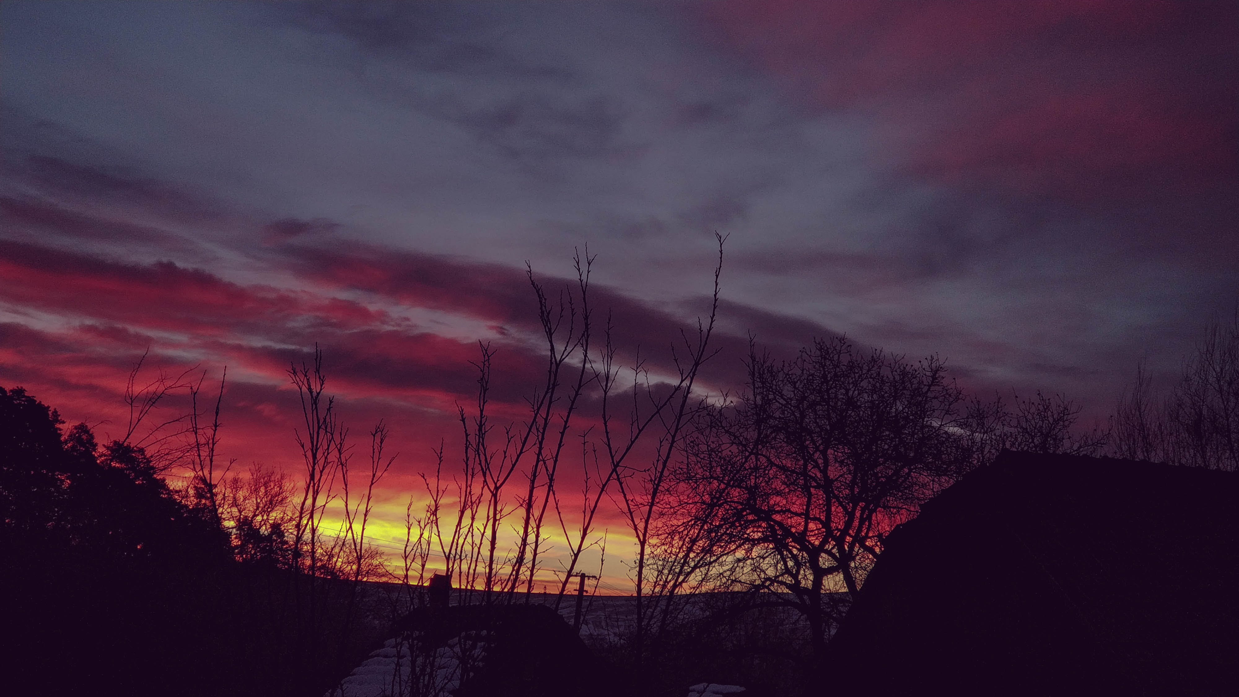Free stock photo of clouds, morning, red clouds, sunrise