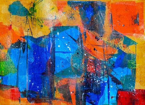 Základová fotografie zdarma na téma abstraktní expresionismus, abstraktní obraz, akrylová malba, barevný