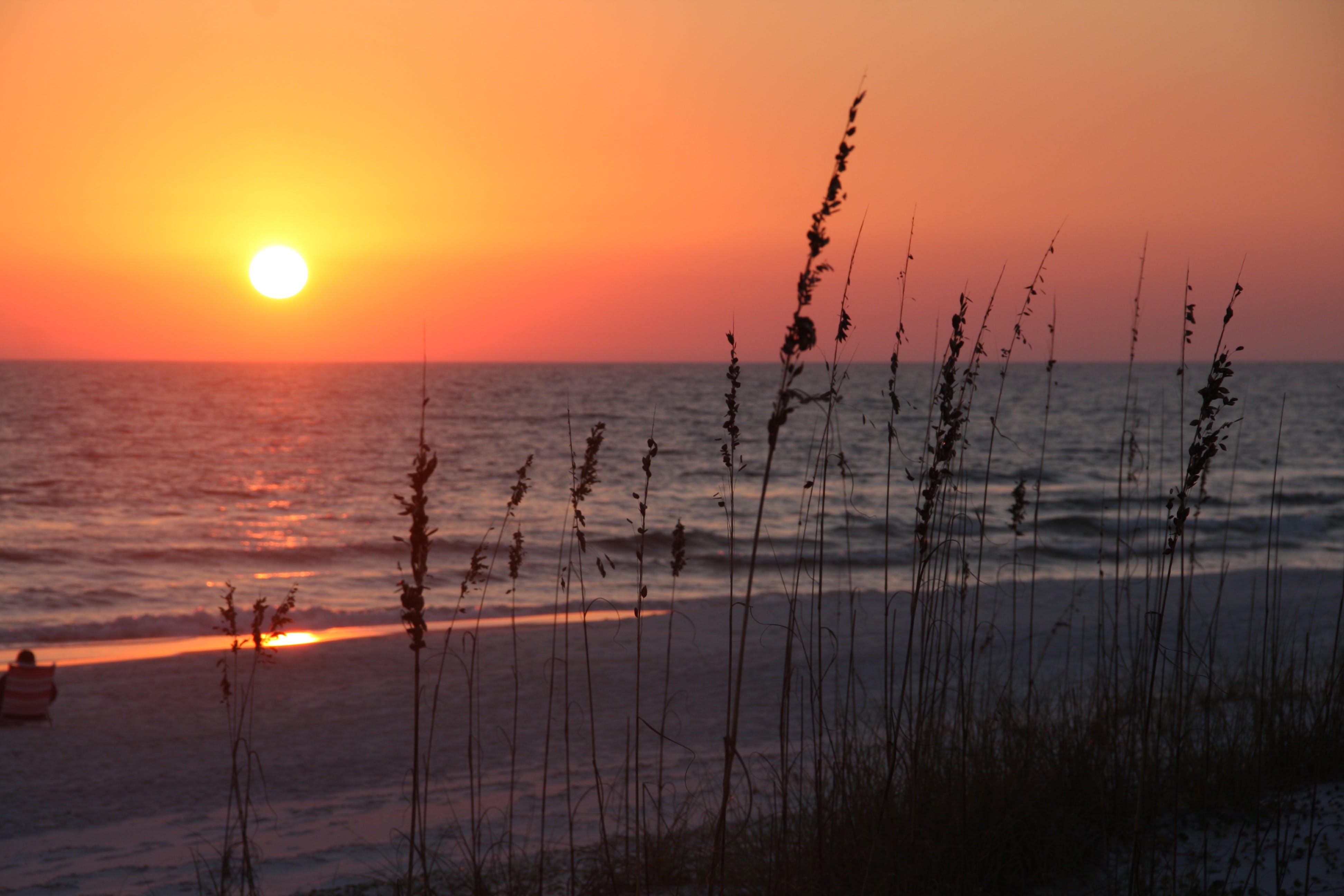 Free stock photo of grayton beach, sunset