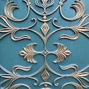 blue, vintage, door