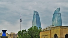 city, skyline, Azerbaijan
