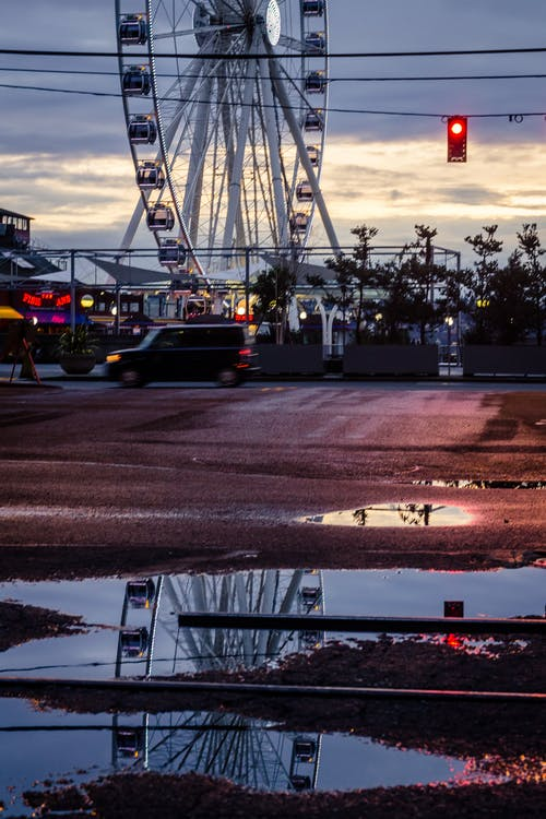 Free stock photo of after the rain, ferris wheel, gritty