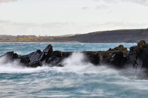 Základová fotografie zdarma na téma kameny, lámání vln