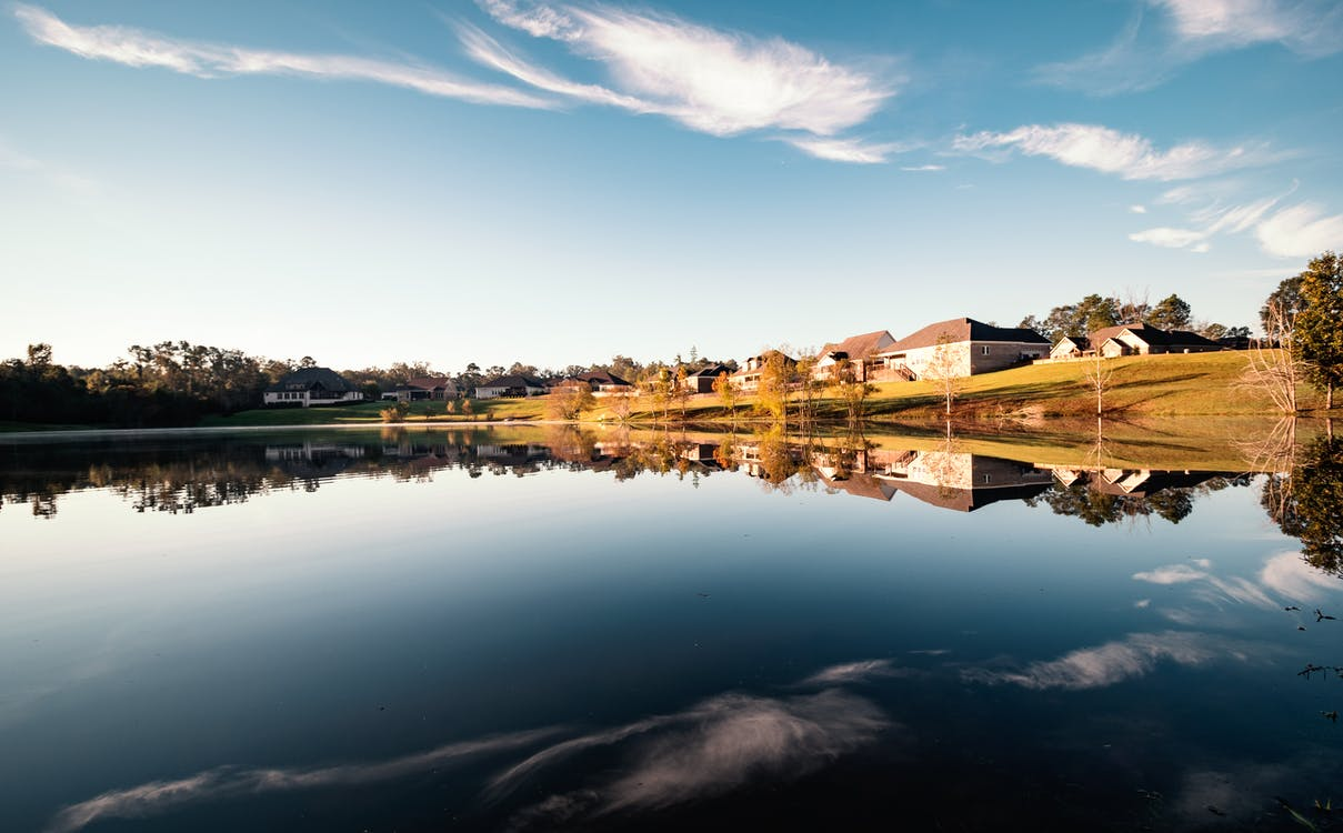 Foto stok gratis air biru, awan, langit