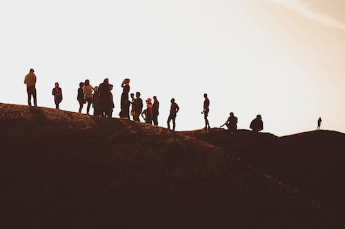 Free stock photo of hill, iraq, people, shadows