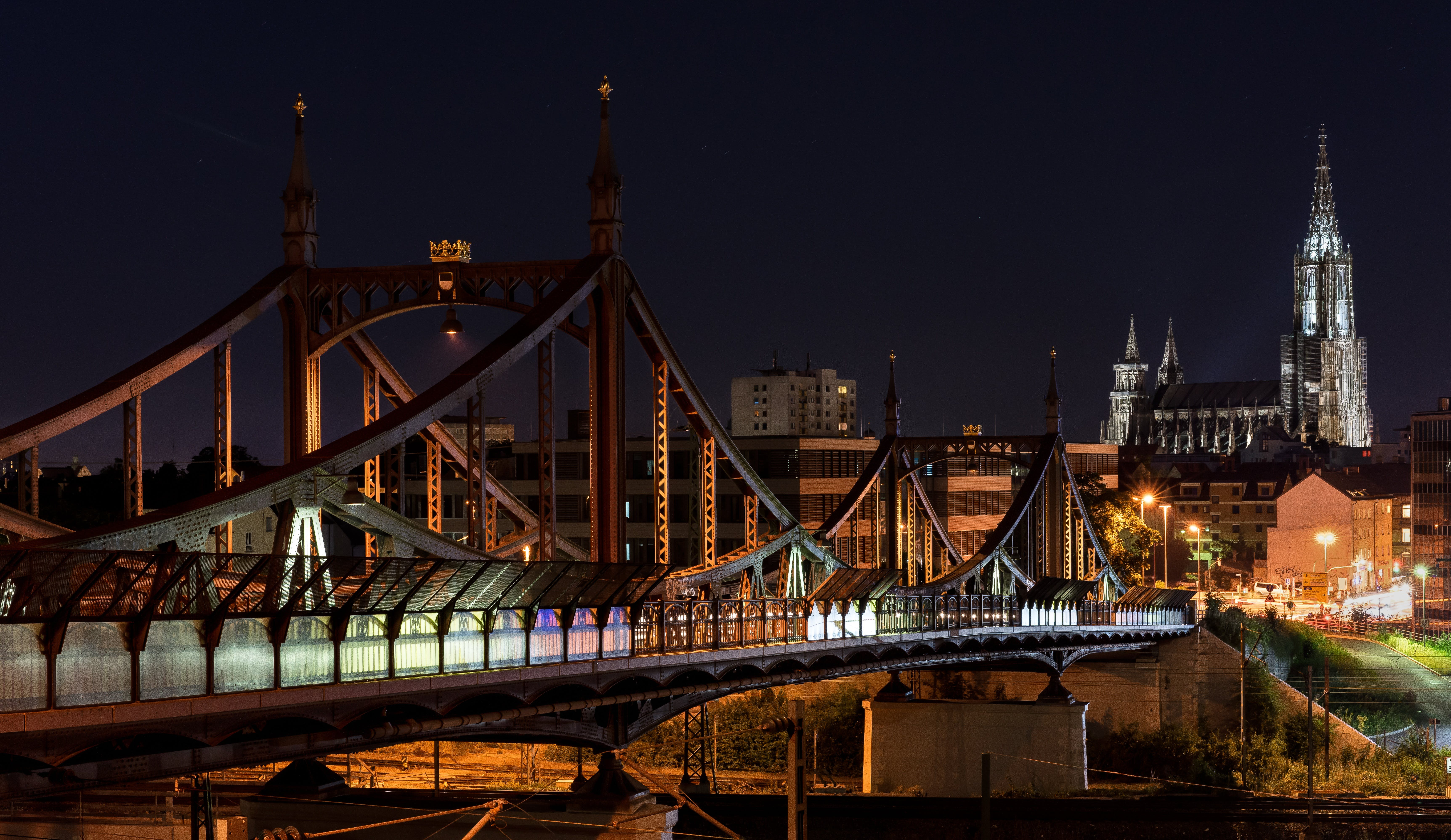 City Bridge Representation during Nigh Time
