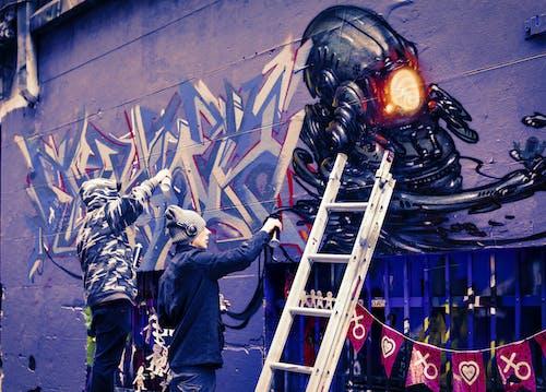 Kostenloses Stock Foto zu abstraktes gemälde, graffiti, straßenkunst, straßenkünstler