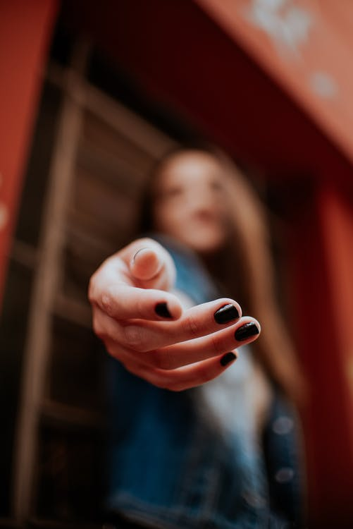 Selective Photograph of Woman's Hand