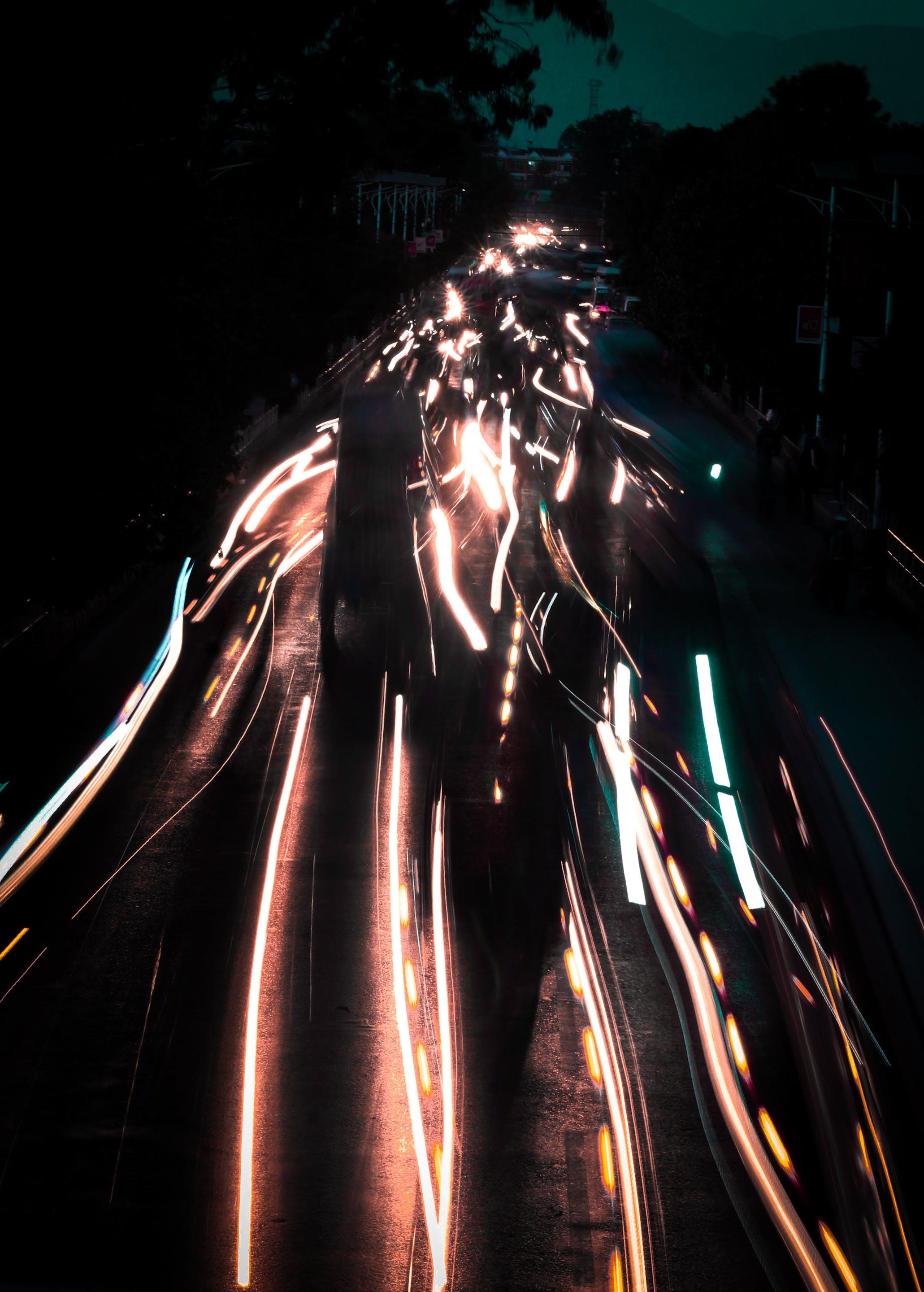 Free stock photo of cars, Light trials, lights, Lights exposure