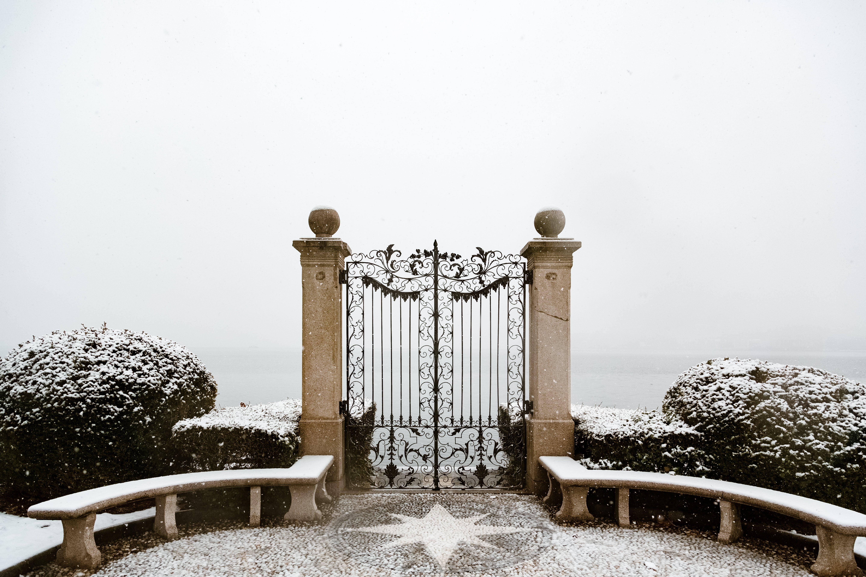 Closed Black Metal Gate