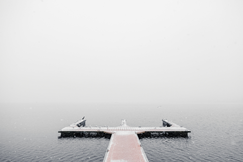 Dock Covered in Fog