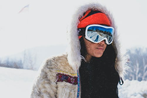 Person Wearing Snow Goggles