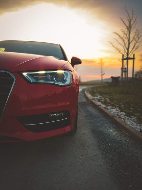 Безкоштовне стокове фото на тему «Audi, Захід сонця, зима, золоте сонце»