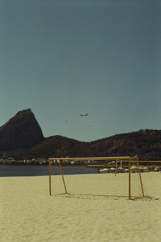 Goal Net By The Seashore