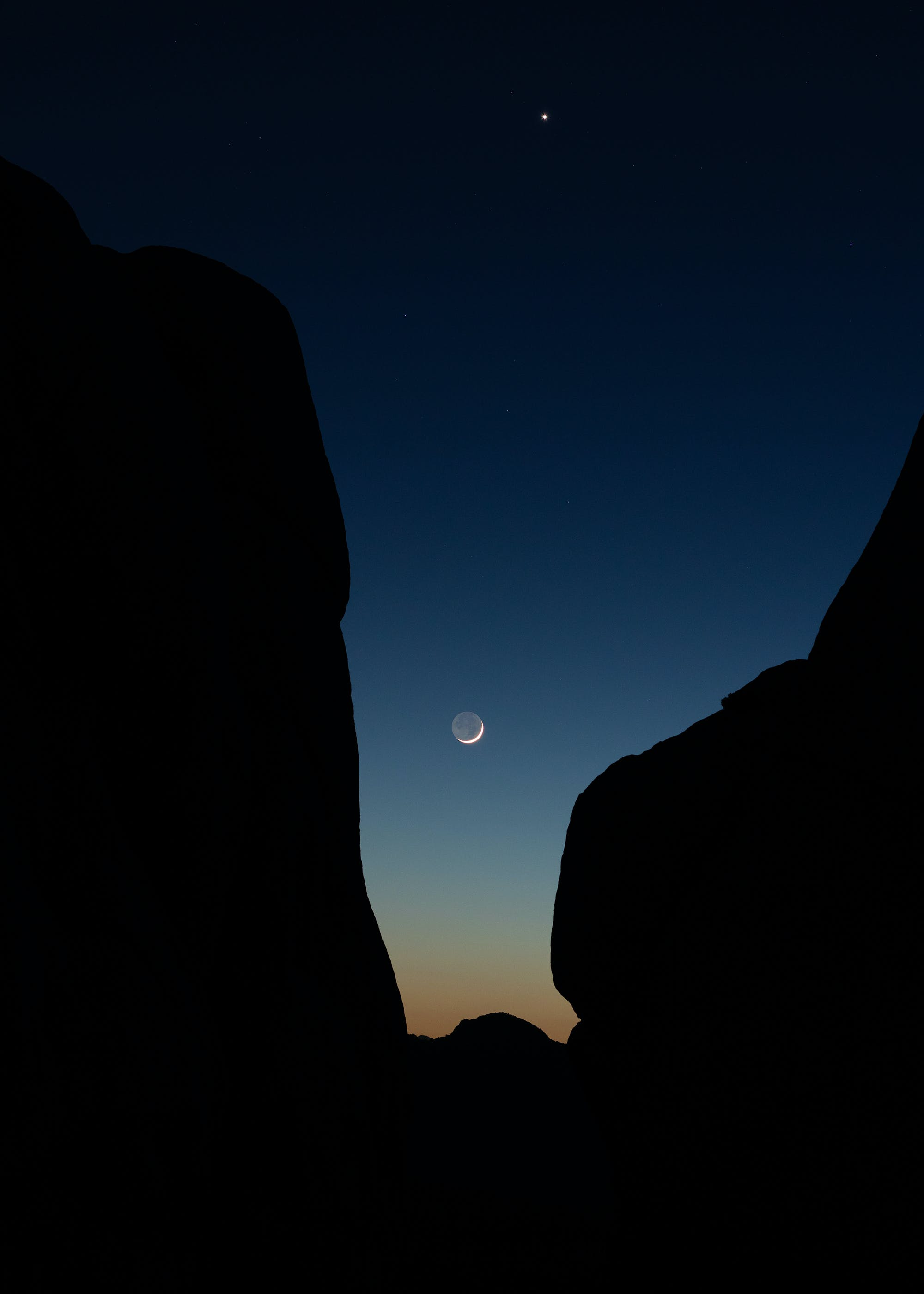 Free stock photo of astrophotography, joshua tree, moon, nature