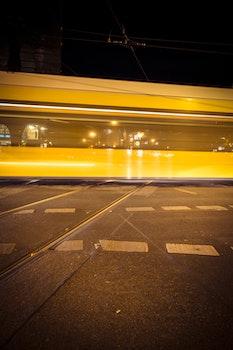 Railroad Station at Night Photo