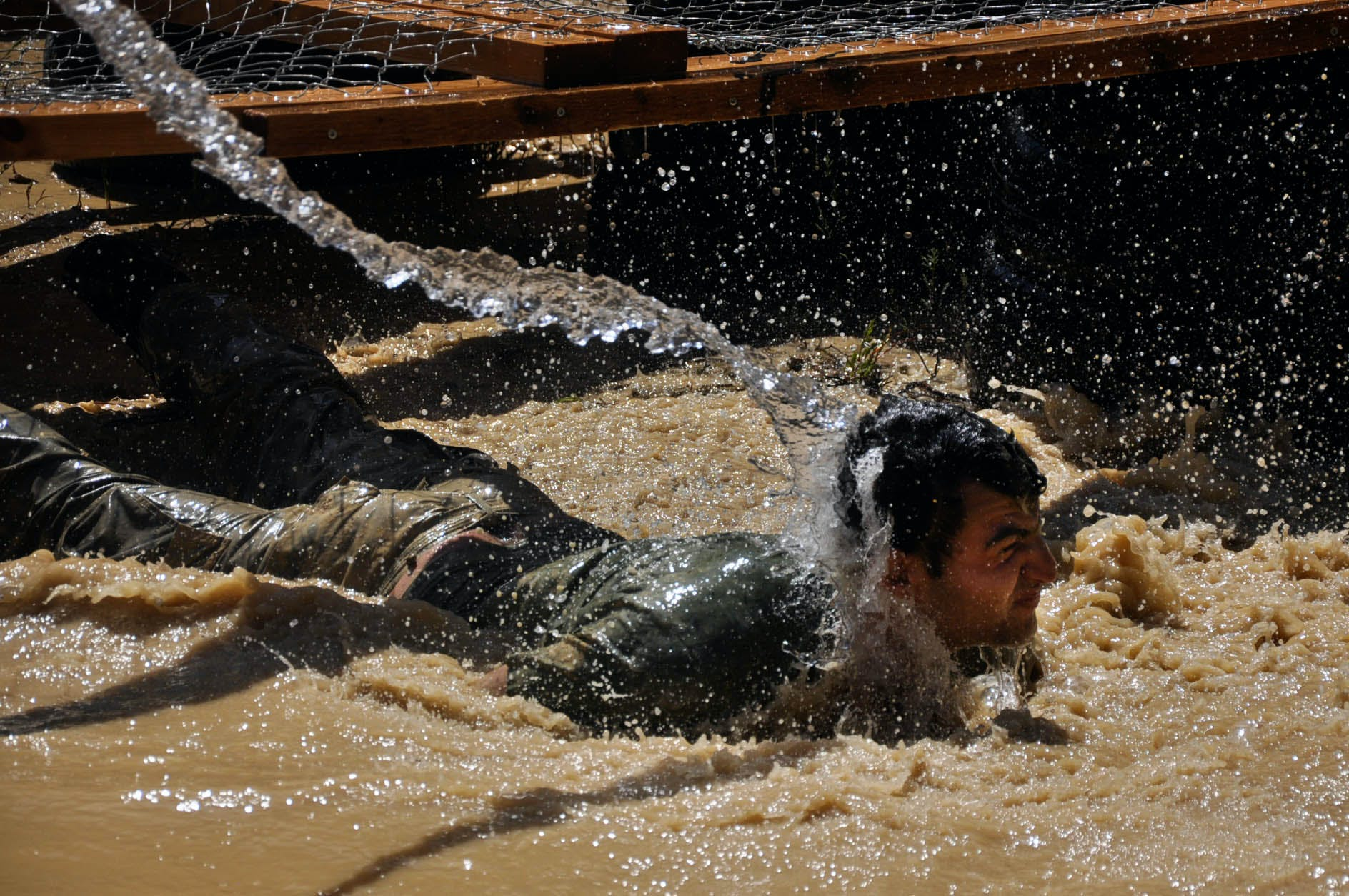 Free stock photo of guy, legion, mud, obstacle