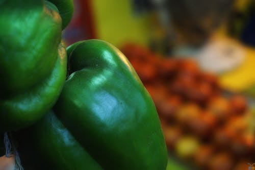 Close-up Photo of Green Bell Pepper