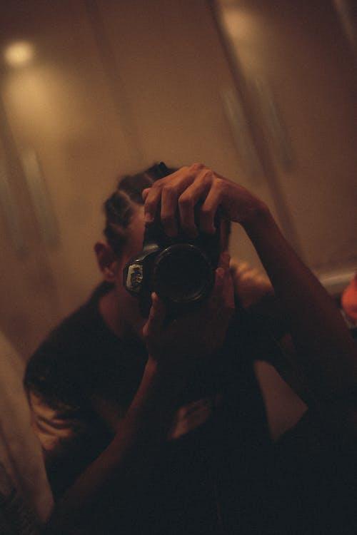 Foto d'estoc gratuïta de auto-retrat, autofoto