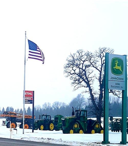 Foto profissional grátis de #eua # americana #farm #tractor #john deere