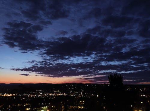 Photos gratuites de ciel nocturne, coucher de soleil, nuages
