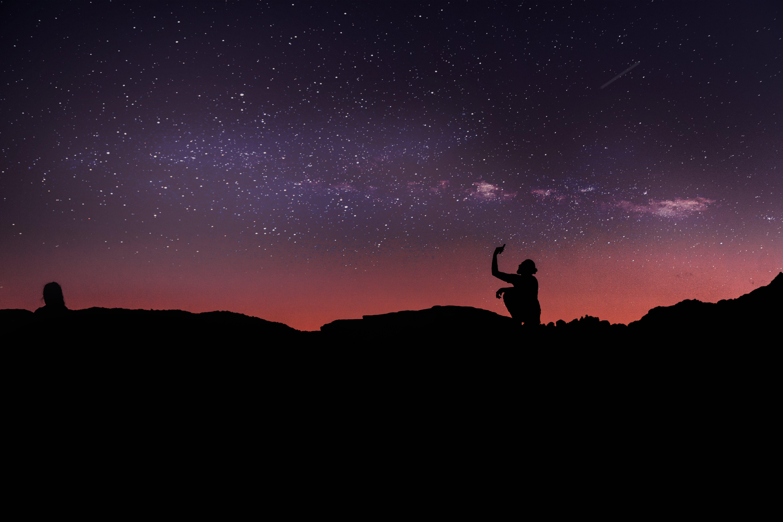 Kostenloses Stock Foto zu astrofotografie, astronomie, natur, selfie