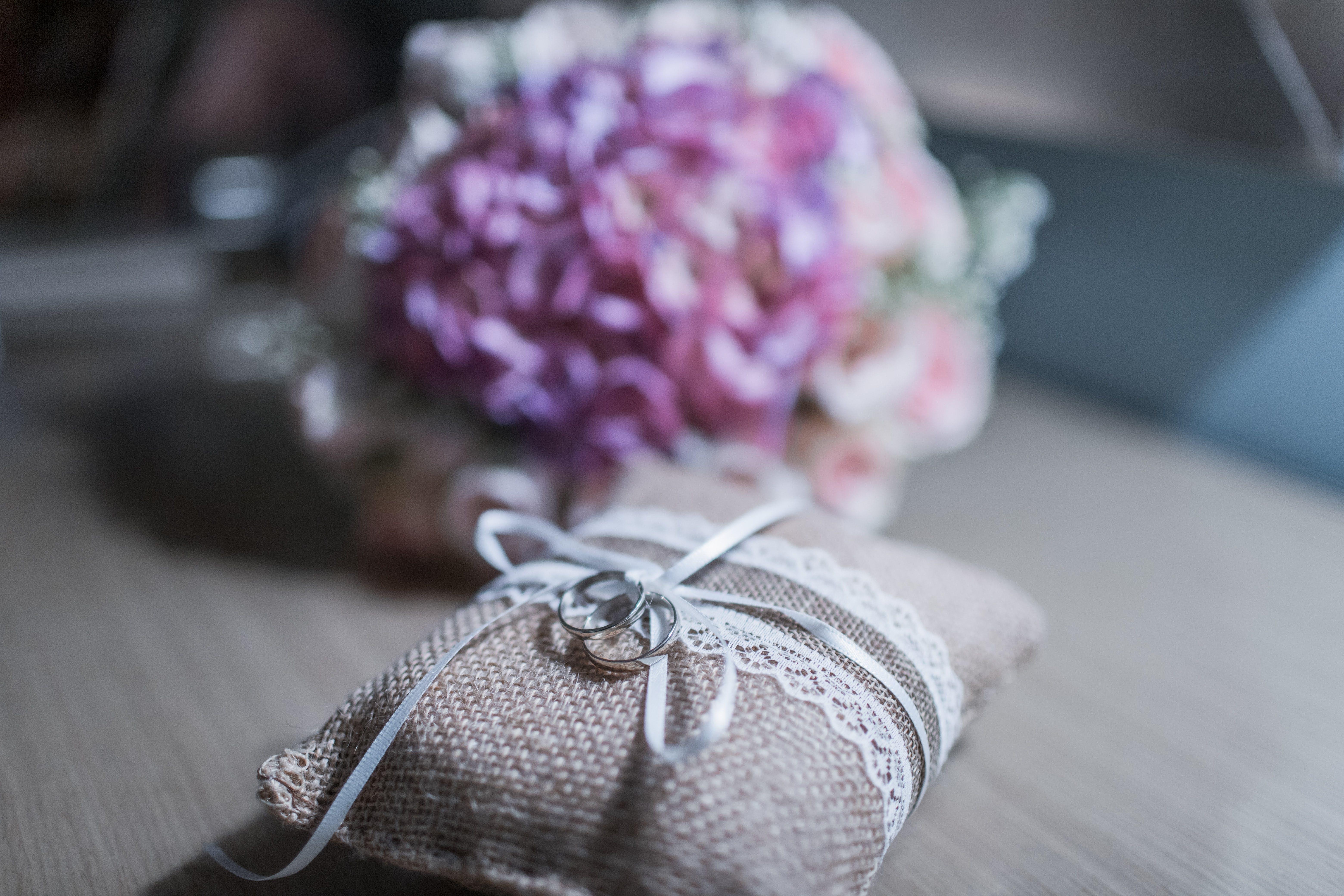 Rings Beside Flowers