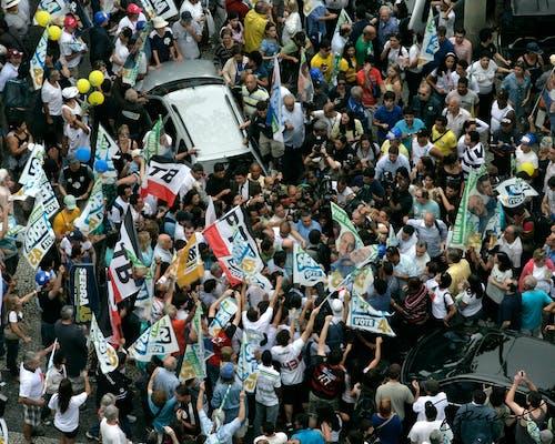 Foto d'estoc gratuïta de brasil, candidat envoltat, on és waldo?, política
