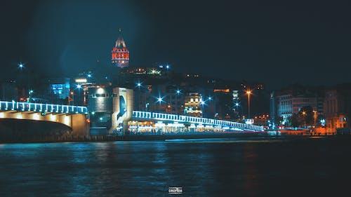 galatabridge, 伊斯坦堡, 光, 加拉塔 的 免费素材照片