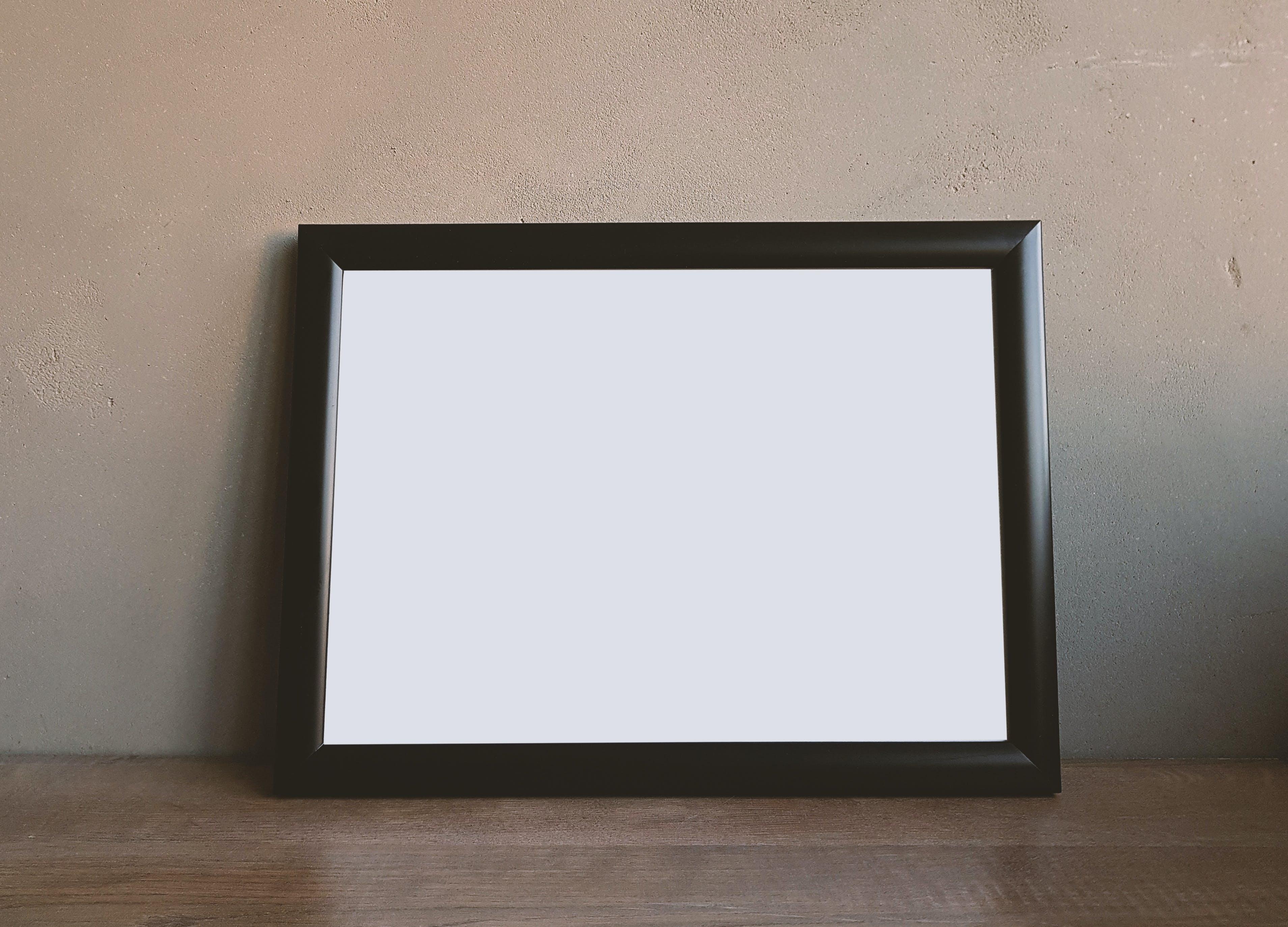 Brown Wooden Rectangular Photo Frame