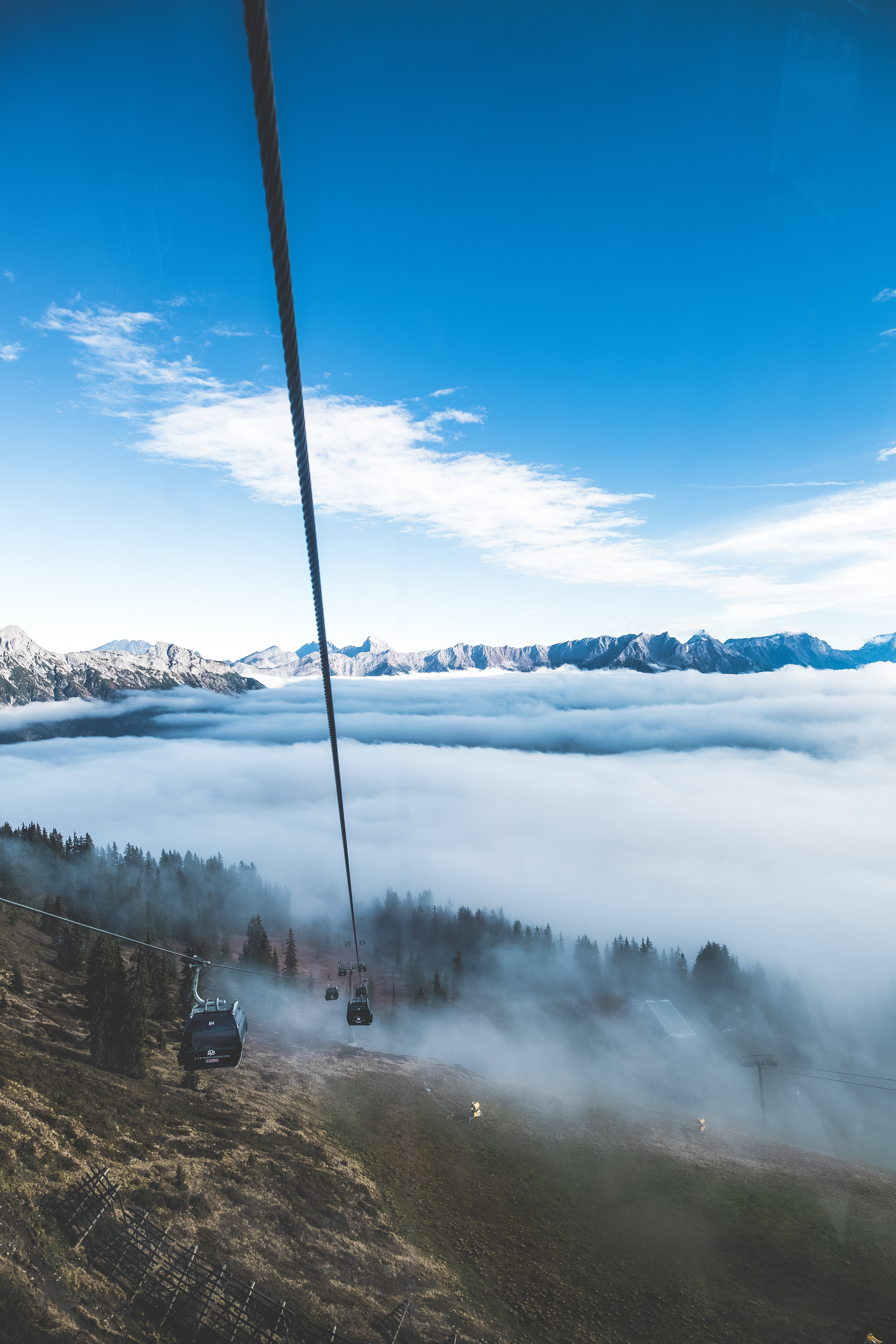 Cable Cars And Sea Of Clouds