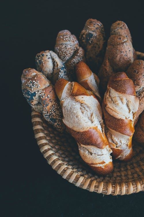 Free stock photo of baguette, baked goods, basket