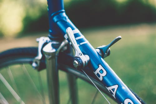 Close-up Photography Of Blue Bicycle Frame
