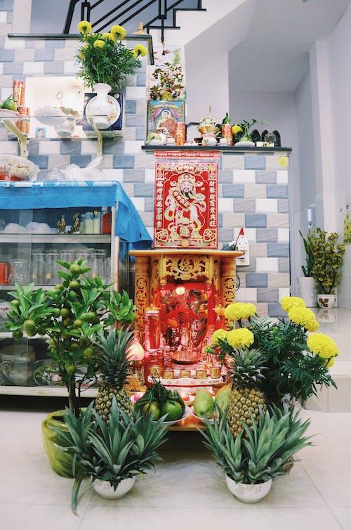 Shrine With Flowers