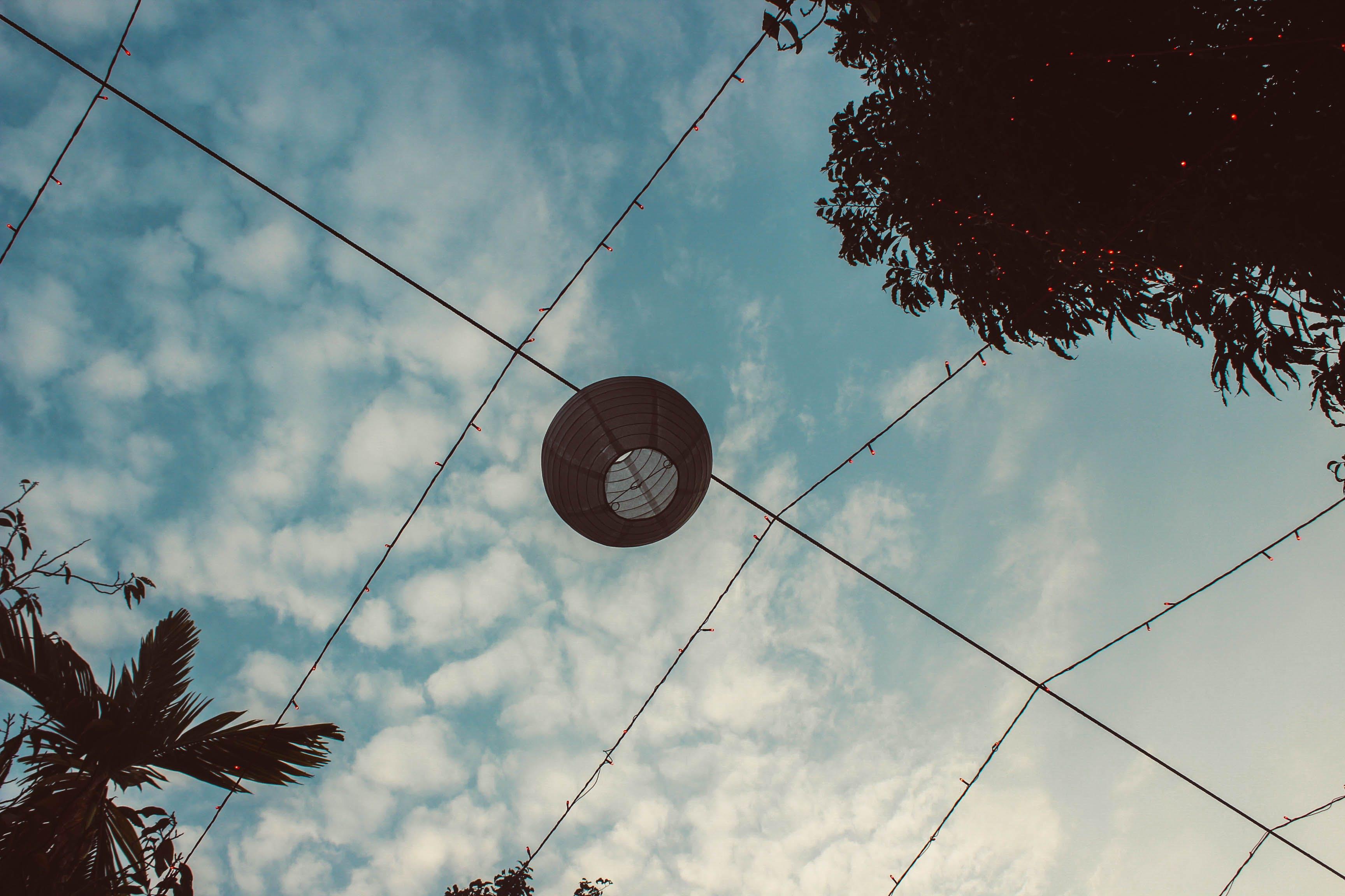 Free stock photo of blue sky, lamp
