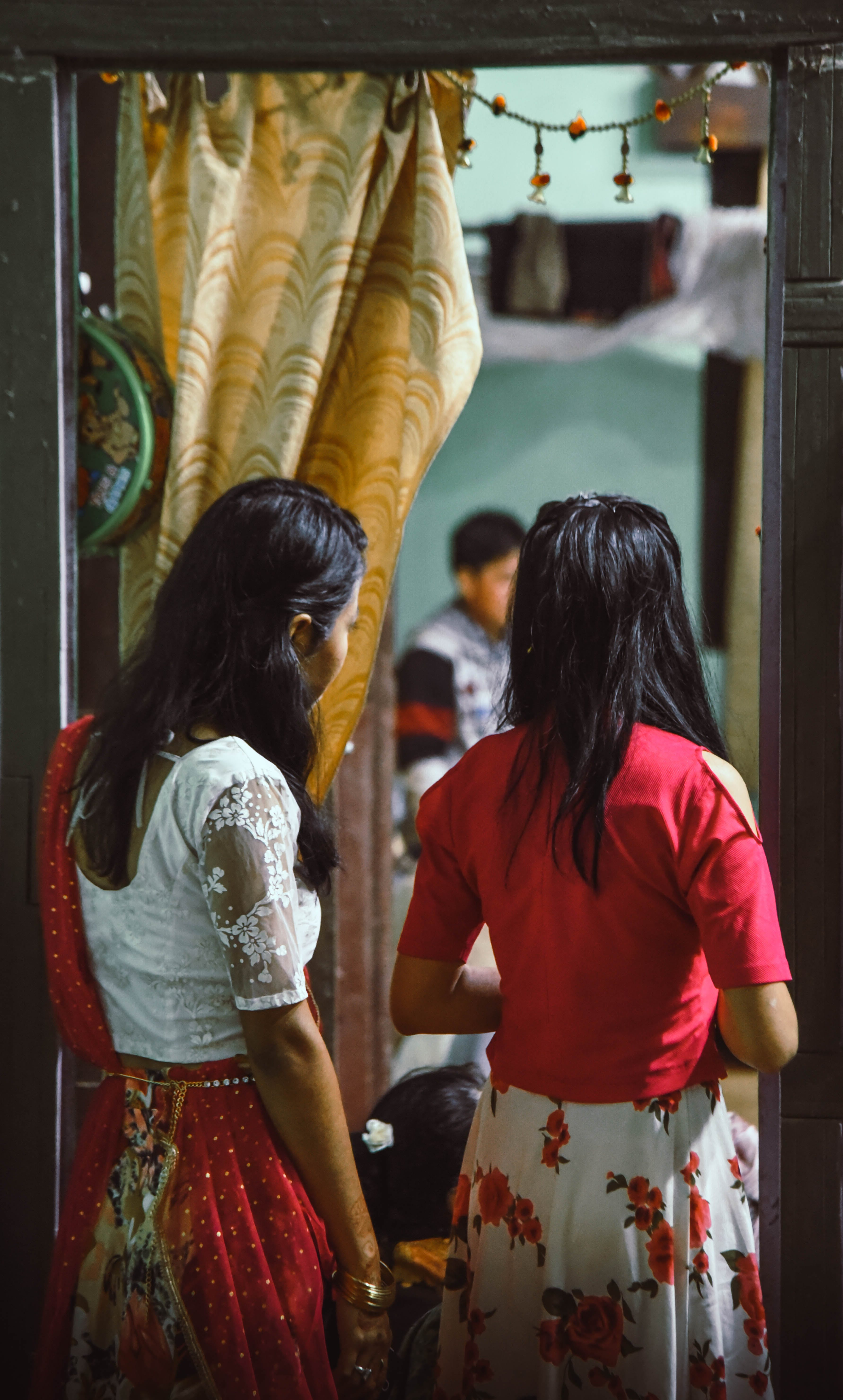 Free stock photo of asian girls, looking away, wedding