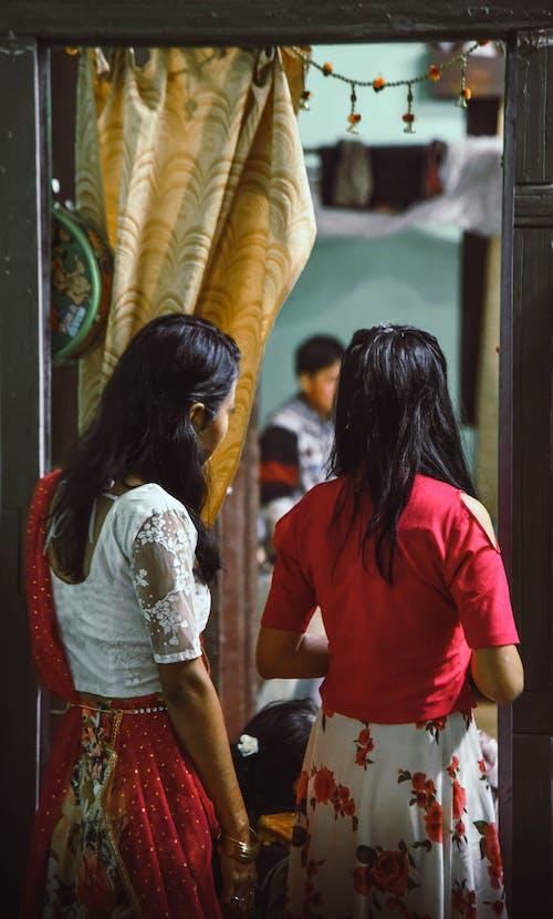 よそ見, アジアの女の子, 結婚式の無料の写真素材