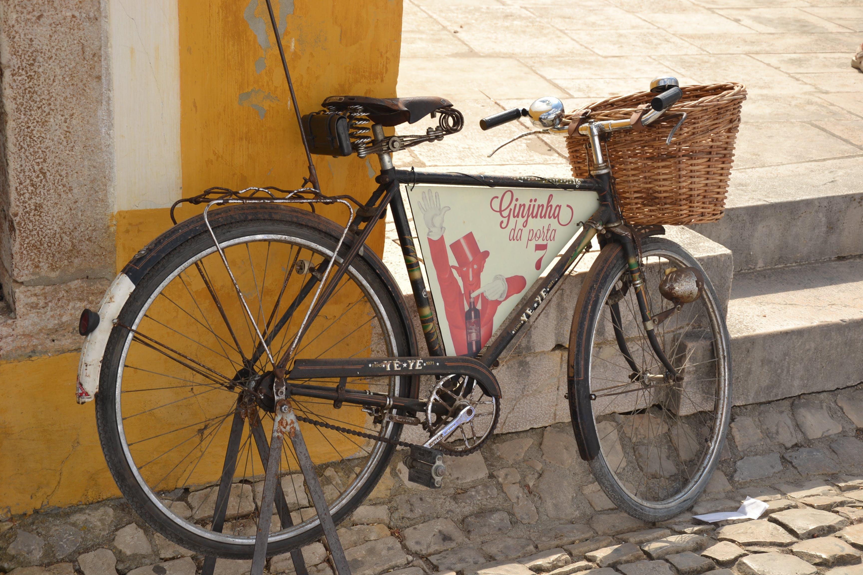Free stock photo of bike, sign-board, street
